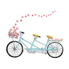 Drawing Tandem Bike Clipart