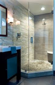 Tile Designs For Bathroom Walls by Best 20 Rock Shower Ideas On Pinterest Stone Shower Awesome