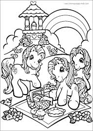 My Little Pony Color Page Cartoon Characters Coloring Pages Plate Sheet