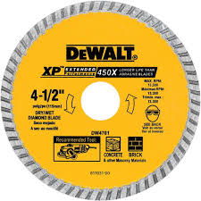 Husky Wet Tile Saw by Dewalt 4 1 2 In Concrete And Brick Diamond Circular Saw Blade