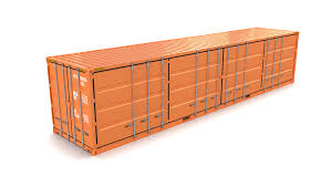 100 Shipping Containers 40 Ft Container Side Open 3D Model In 3DExport