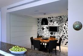 Ideal Height For Dining Room Light With Creative Wall Art And Black Clock