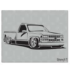 100 Low Rider Truck Stencil1 Rider Stencil