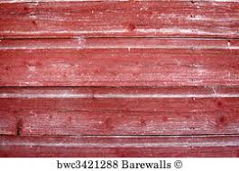 Red Rustic Weathered Barn Wood Board Background Art Print Poster