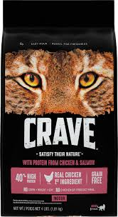 high protein cat food crave with chicken salmon indoor high protein grain free