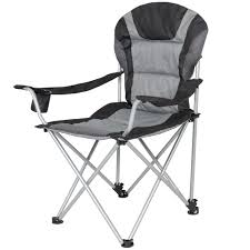 Picnic Time Reclining Camp Chair by Deluxe Padded Reclining Camping Fishing Beach Chair With Portable