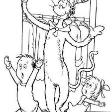 Dr Seuss The Cat In Hat And Thing One Coloring Page