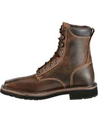 Justin Men's Stampede Steel Toe Lace-Up Work Boots | Boot Barn Ariat Mens Mecte Western Boots Boot Barn Justin 11 Rugged Work Wolverine Marauder 8 Twisted X Shoes Sedona Cody James Square Toe Stockman Georgia Eagle Light Classic Sport Heritage Stampede Steel Laceup