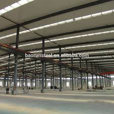 100 Warehouse Houses Galvanized Structural Steel Beams And Columns Prefab