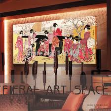 Printed Ukiyoe Japan Style Geisha Wall Art Picture On Canvas For Japanese Restaurant Hotel Massage Club