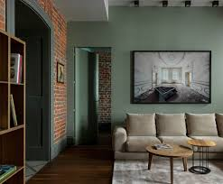 100 Brick Walls In Homes Walls And Shades Of Green Modern Apartment In Old