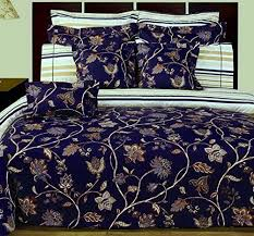 12pc French Country Blue Floral Cotton Duvet Comforter Cover Sheet