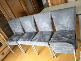 4 calligaris stühle chrom hummer grau esszimmerstühle made