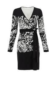graphic leandra wrap dress by diane von furstenberg for 75 rent