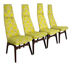 Set Of 4 Mid-Century Danish Modern Adrian Pearsall High Back Dining ... Danish Modern La Adrian Pearsall Brutalist Highback Ding Pair Of Tall Back Armchairs In Orange Velvet Set Of Five Mid Century Adrian Pearsall Style High Back Cane Ding Set Six Chairs For Craft Associates High Etsy Scoop Chair And Ottoman Midcentury From Fair Auction Co 1960s Vintage Style Teak Wood