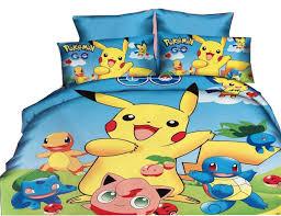 Pokemon Pikachu Charmander Bedding Set Duvet Cover Pillowcase Full