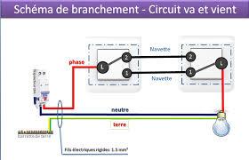 le va et vient schéma de branchement circuit va et vient électricité maison