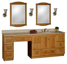 bathroom vanity with makeup vanity attached choice of sink and