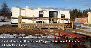 roulotte 2 chambres location roulotte à chandler avec 2 chambres iha 26471