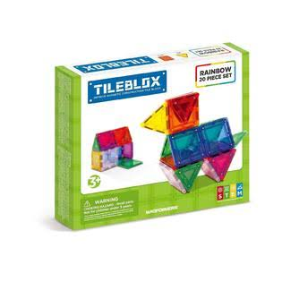Tileblox Rainbow Magnetic Construction Set - 20pcs