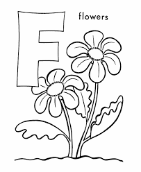 Printable Flower Letter F Coloring Sheet