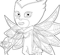 Coloring Pages Of Pj Masks Pas Mask And Kids Characters Free Printable