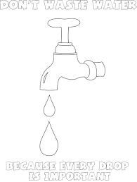 Coloring Pages Water In Drop Page For