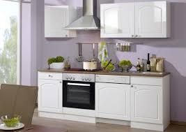 küche ohne e geräte 220 cm breit hochglanz weiß