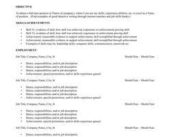 Resume Templates Libreoffice ResumeTemplates