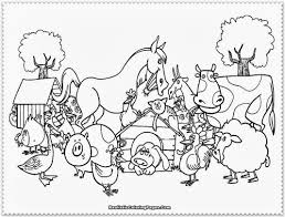 Printable Farm Animals Coloring Pages Cute