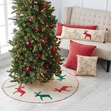 Red Green Reindeer Tree Skirt