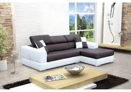 canapé angle polyuréthane canapé design d angle madrid iv cuir pu noir et blanc canapés d