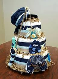 Fishing Themed Diaper Cake Baby Boy Shower Gift More Photos On My