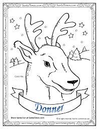 Donner The Reindeer Printable Coloring Page