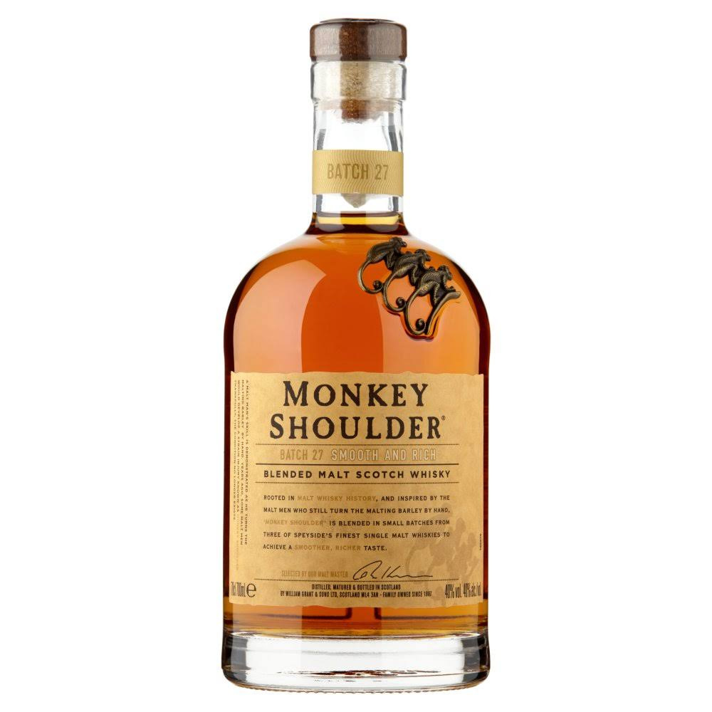 Monkey Shoulder Blended Malt Scotch Whisky - 70cl