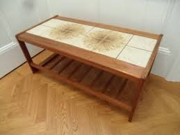 coffee table vintage teak coffee table with ceramic tiles