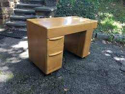 Heywood Wakefield Dressing Table by Heywood Wakefield Desk With Shelves Attainable Vintage