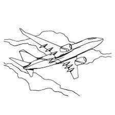 Photos Of Plane Coloring Pages
