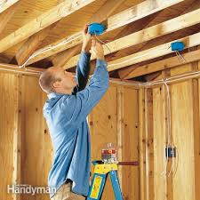 Ceiling Material For Garage by How To Wire A Garage Unfinished Family Handyman