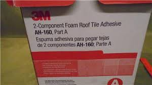 3m polymeric 2 component spray foam roof tile adhesive nib ah 160