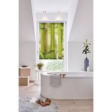 rollo klemmfix ohne bohren blickdicht bambus grün grün lichtblick
