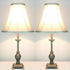 End Table With Attached Lamp by Furniture White Glass Bedside Table Lamps For Vintage Bedroom Decor
