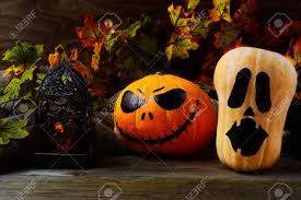 A Decorated Pumpkin For Halloween Stock Photo 161688657 Alamy