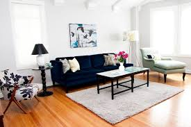 Oversized Throw Pillows For Floor by New York Teal Velvet Sofa Living Room Eclectic With Serving Tray
