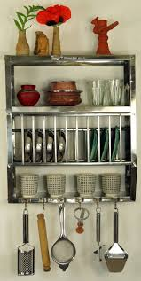 edelstahl küchenregal wandregal miniküche aus indien