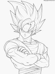 Dragon Ball Gt Coloring Book Printable Coloring Page For Kids