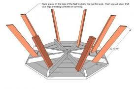 octagon picnic table lawn furniture pinterest octagon picnic