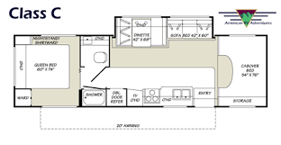 C Floor Plans by American Rv Adventures Class C Cabover Style Details