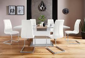 essgruppe perez lola set 5 tlg mit 4 stühlen tisch ausziehbar breite 160 200 cm kaufen otto