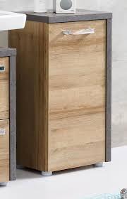 bad unterschrank badezimmer kommode eiche honig nb und grau beton design badschrank bay mit soft und chrom griffen